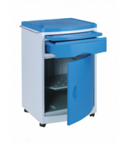 Plastic medical bed side cabinets