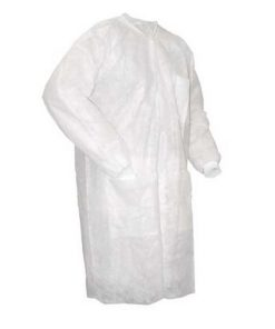 MOM - Gown PP Long Sleeve White 40g/m2