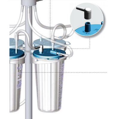 Surgical Suction Flovac Lid Connector 5's