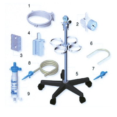 Surgical Suction Flovac Trolley 4 place