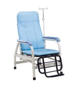 F-43 Hospital Recliner Transfusion Chair Bed with IV Stand
