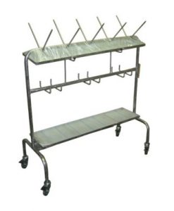 Mobile Bedpan / Urinal Rack Stainless Steel with Driptray