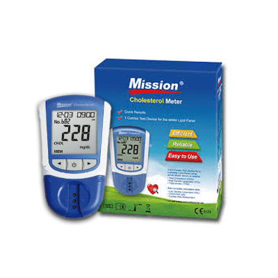 Mission 3 IN 1 Cholesterol Meter-Full Lipid panel(No strips included)