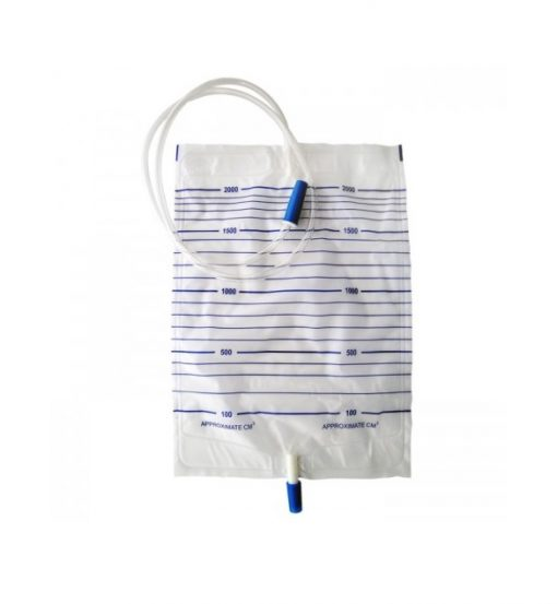 URINE BAG 2000ML ,with screw valve