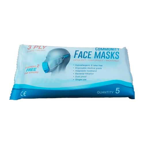 3 ply Community Face Mask